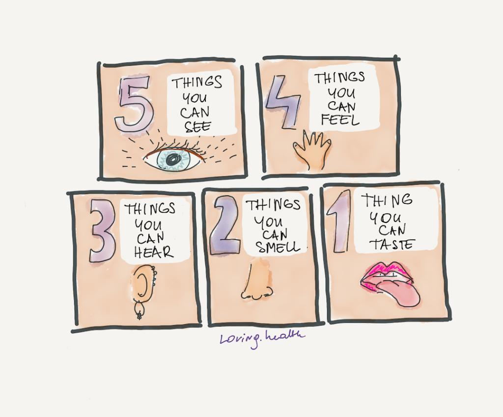 defusion technique uses all five senses